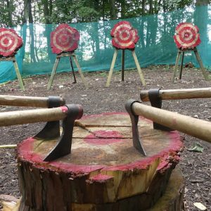 Axe Throwing at Hazlewood Castle
