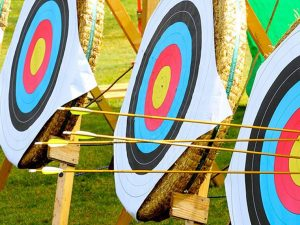 Archery at Hazlewood Castle near York and Leeds