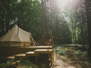 Woodland Glamping Trip for 2 with Archery and Cryptic Chase Outdoor Activities