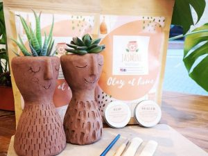 Clay Plant Pot Pottery Kit - Clay at Home Experience