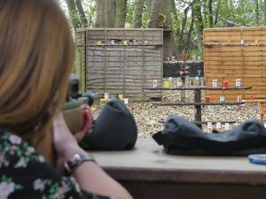 Air Rifle Shooting at Hazlewood Castle near York and Leeds