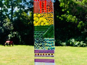 Fused Glass Rainbow Hanger