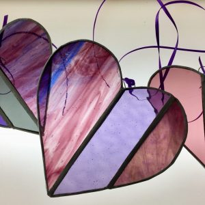 Stained Glass Hearts Experience